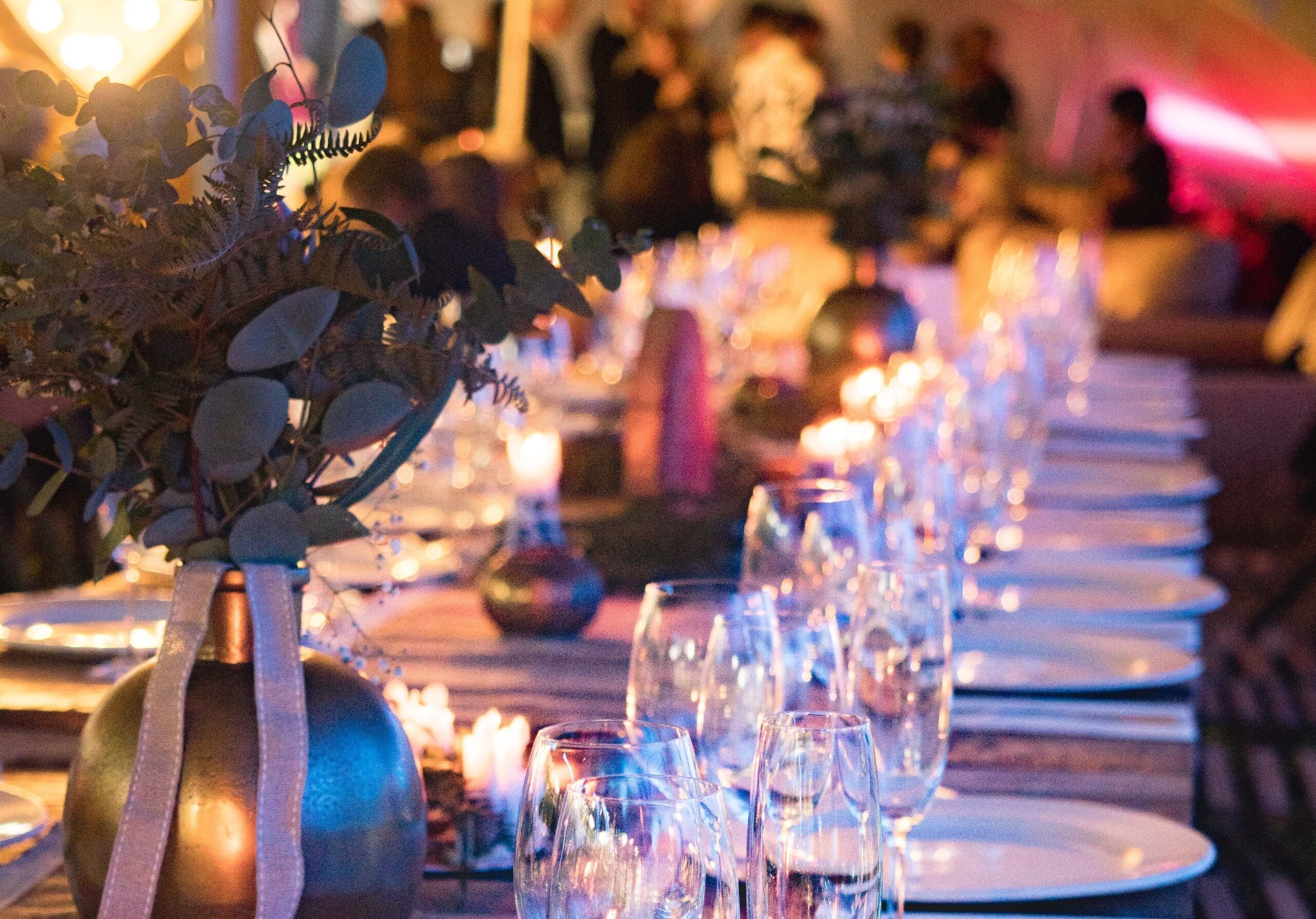 Classy dinner table