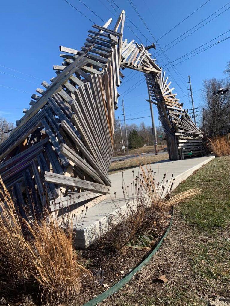 portal #5 wooden sculpture