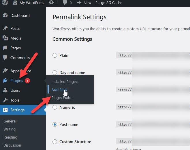add new plugins menu