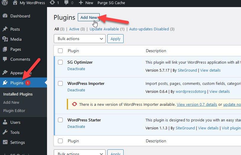 add new plugins