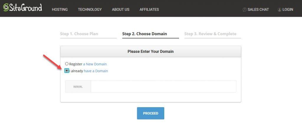 already have a domain