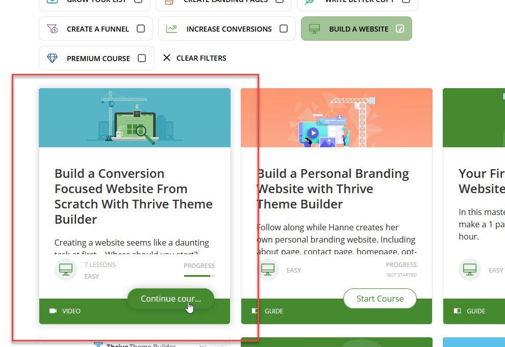 build conversion focused website