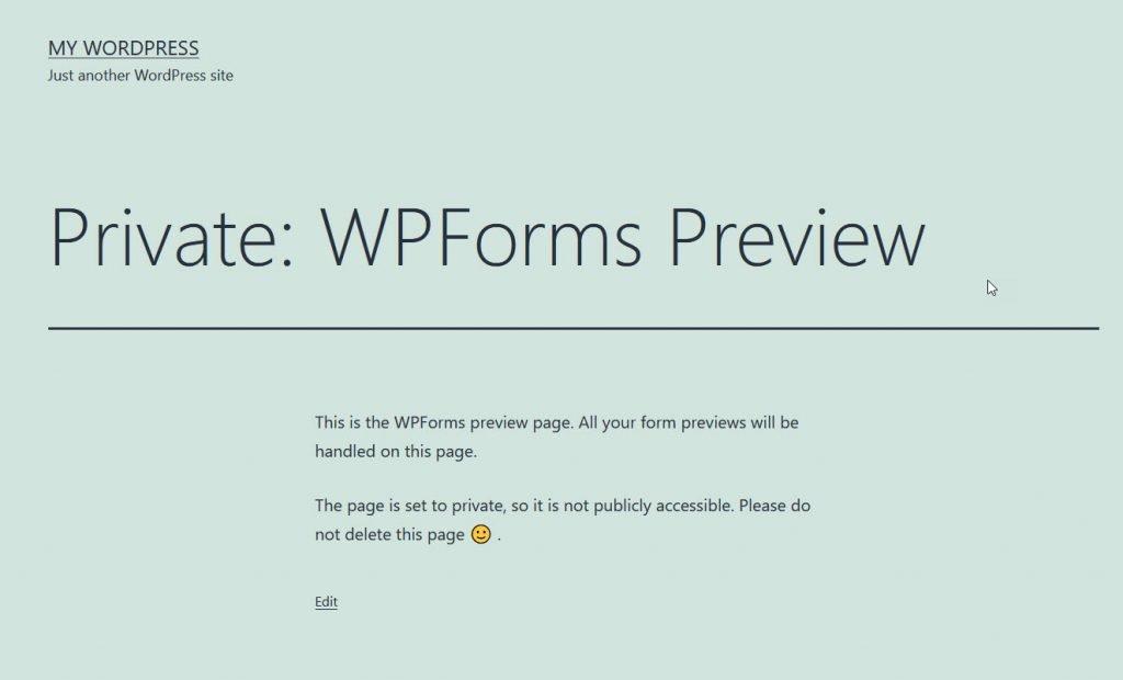 wpforms preview