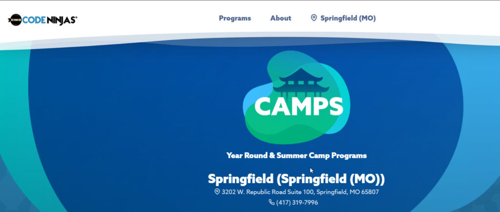 springfield science camps code ninja