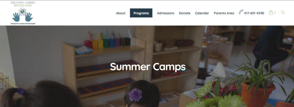 summer camps springfield mo motessori school