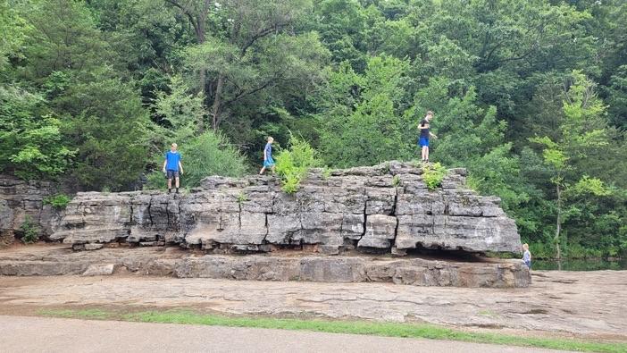 boulders at sequiota park in Springfield
