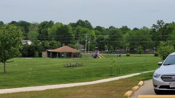pavillion and fields at McBride park
