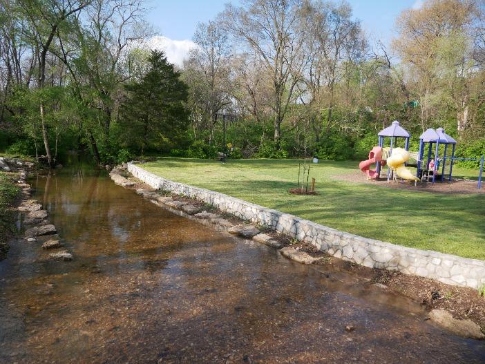 playground and stream at sequiota
