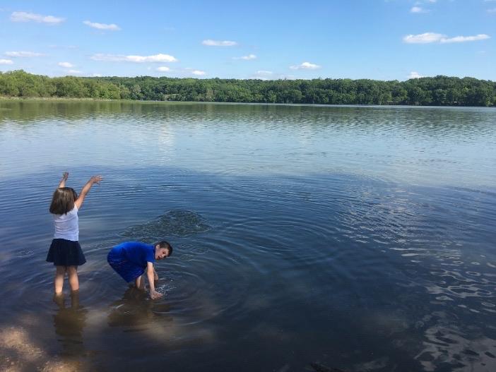 the lake at Springfield Lake park