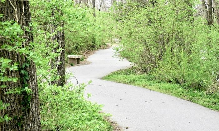 walking trail at galloway creek greenway